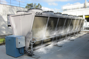 Adiabatic Cooling Minimizes Weight and Size of Dry Coolers