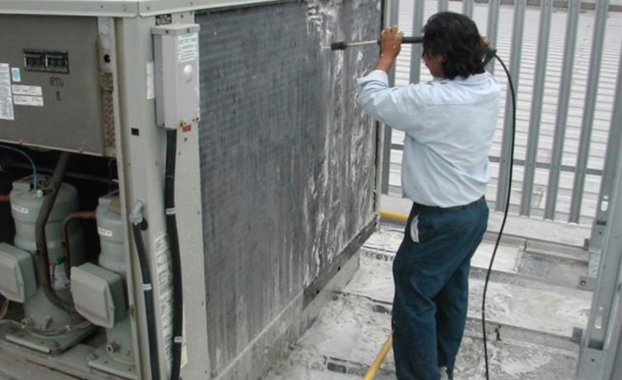Powerwashing Industrial Cooling Tower Downtime Filters Catch Airborne Debris Intake Filtration Air Solutions Company