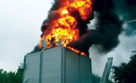 Cooling towers combustion