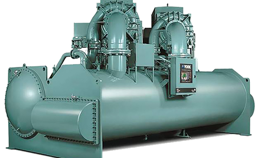 Centrifugal Cooling Tower : Dual compressor centrifugal chiller has variable speed