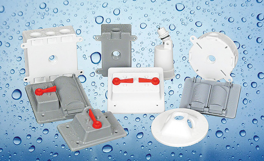 Weatherproof Boxes, Covers Prevent Water Damage to Electrical Systems
