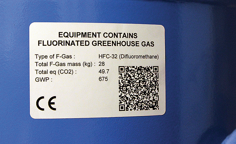 Labeling Meets F Gas Regulations Soon Going into Effect