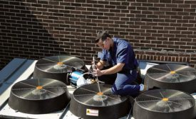 On outdoor coils, use a combination of lower pressure and high water volume to thoroughly clean coils.