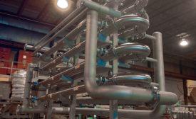 Stacked heat exchangers
