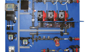 Chemical-Delivery and Basin-Sweeper Piping Systems