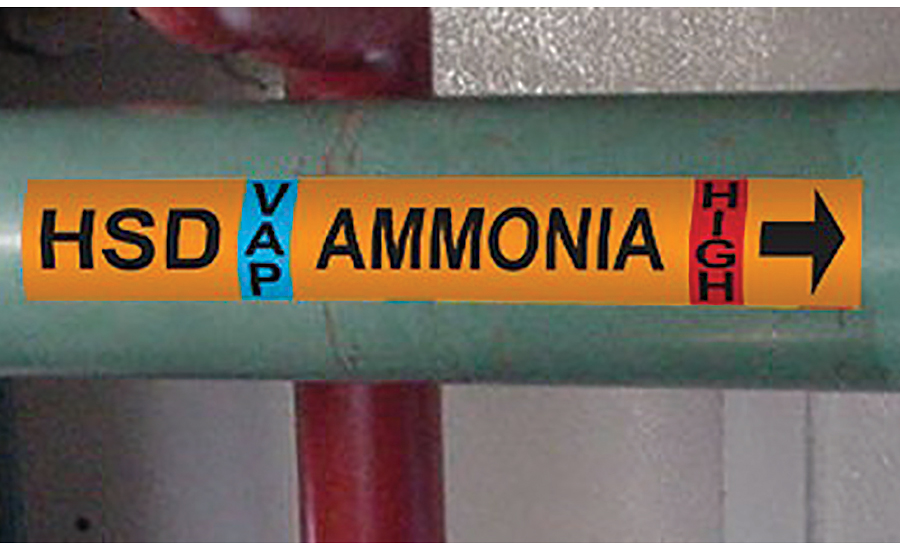 ammonia pipe marking