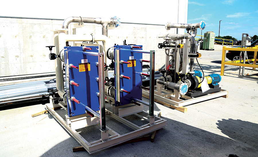 Skid-mounted plate-and-frame heat exchangers