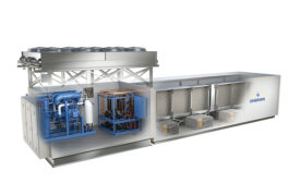 Refrigeration system from Emerson, Vilter Manufacturing.