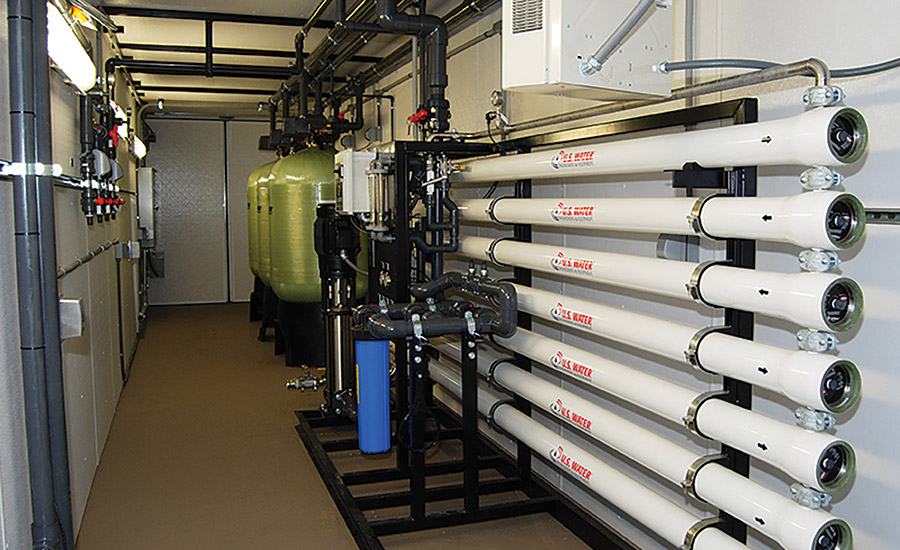 Custom water treatment system from U.S. Water.