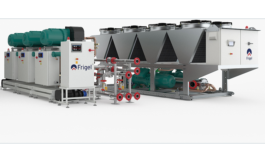 Industrial central chillers from Frigel.