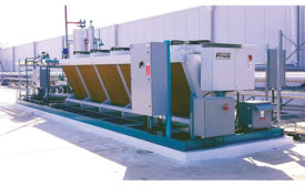 Low charge central system from Frick Industrial Refrigeration, Johnson Controls.