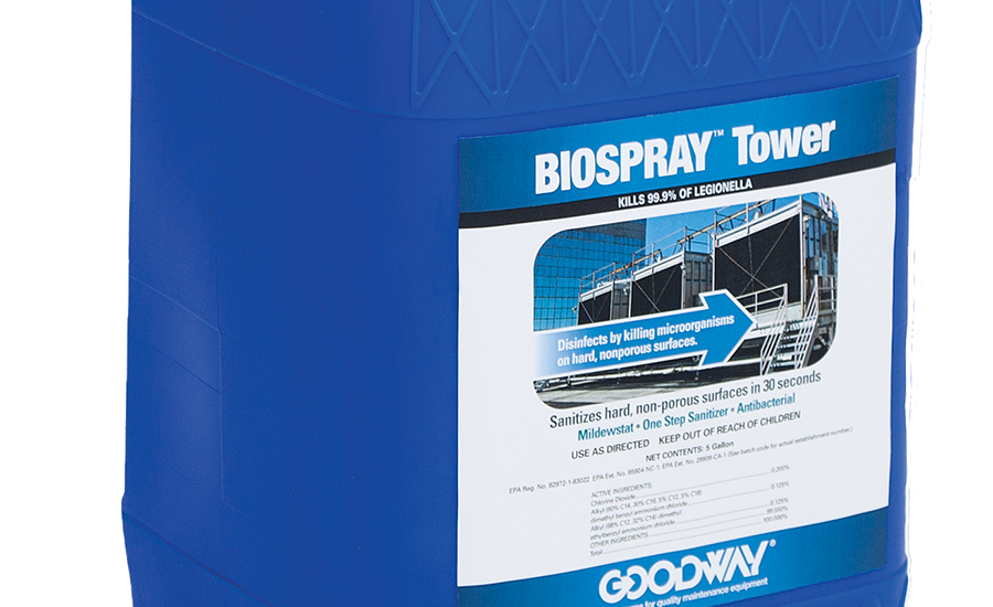 Cooling tower cleaner from Goodway Technologies Corp.