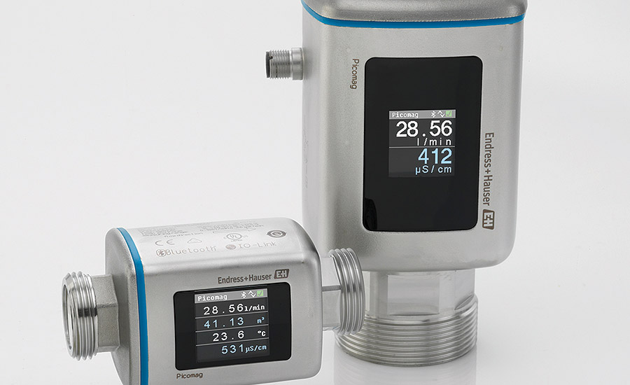 Electromagnetic flowmeter from Endress+Hauser.